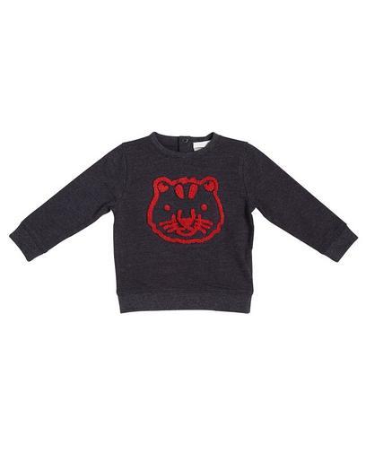 Sweater met bouclé print